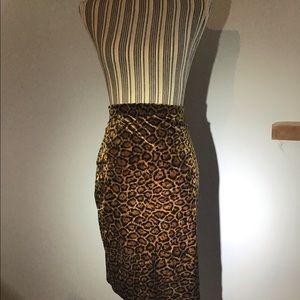 Krizia Maglia Leopard Skirt
